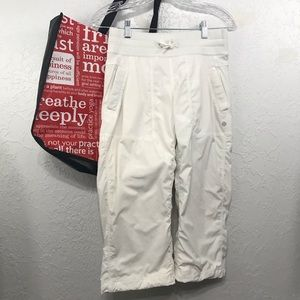 Lululemon Studio Dance Cropped Pants With Tote Bag
